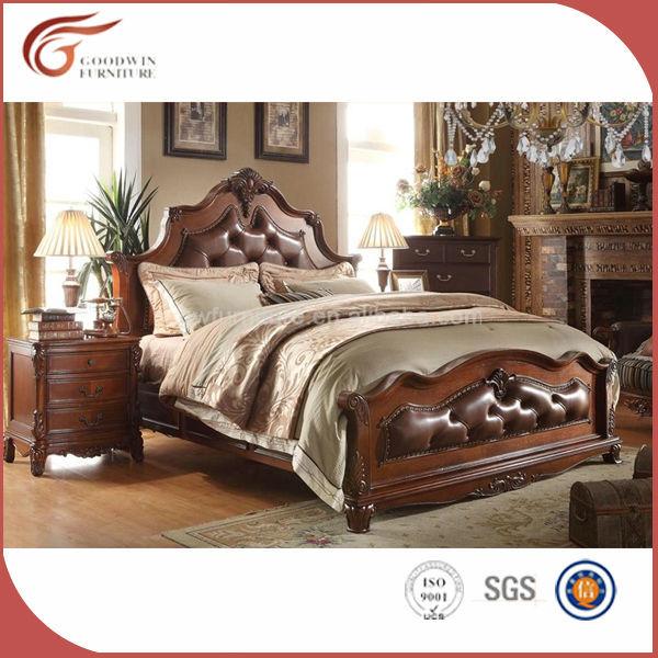 Italia lujo real dormitorio muebles antiguos, King Size cama de ...