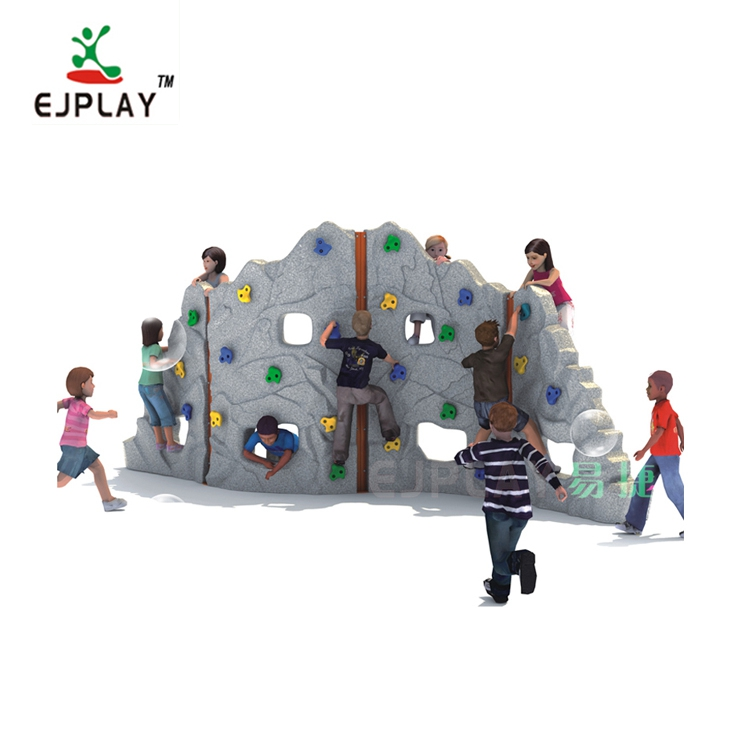 2019 Modern Design Structure Plastic Playground Equipment For Rock Climbers Kids Climbing Equipment