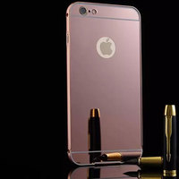 for iPhone 6 6s mobile accessories electroplating aluminum PC mirror cover blank phone case 3d model