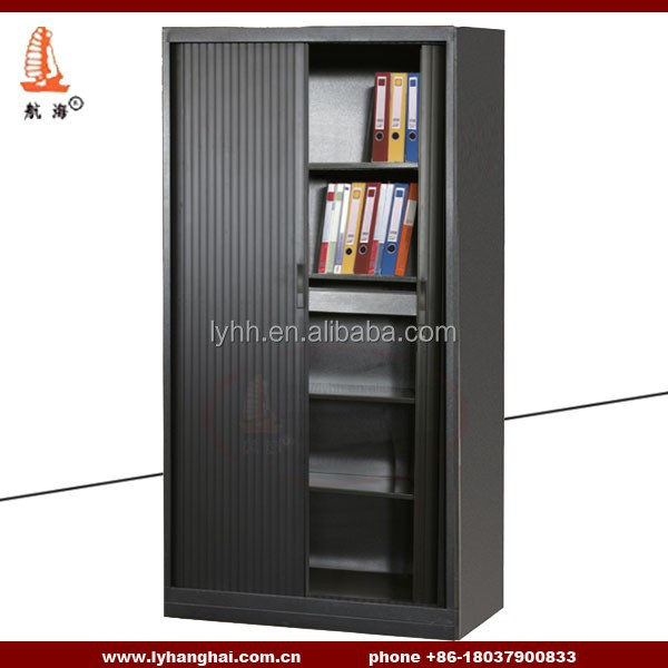 Workspace Tambour Door Cabinets Sliding Doors Office Cupboard Steel