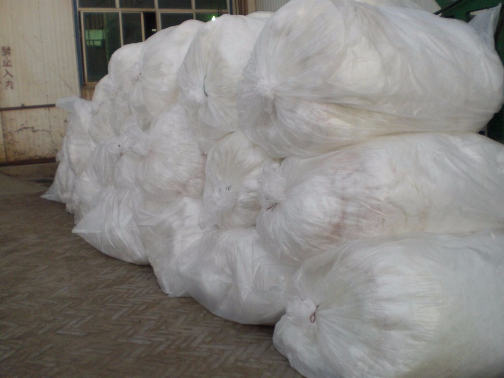 White Spray Blowing Loose Fiber Glass Wool Insulation