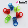 Blue Green Red color plastic Rose Shape LED Flashing Ring