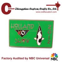 customized metal crafts, custom zinc alloy hard enamel painted plaque name badges