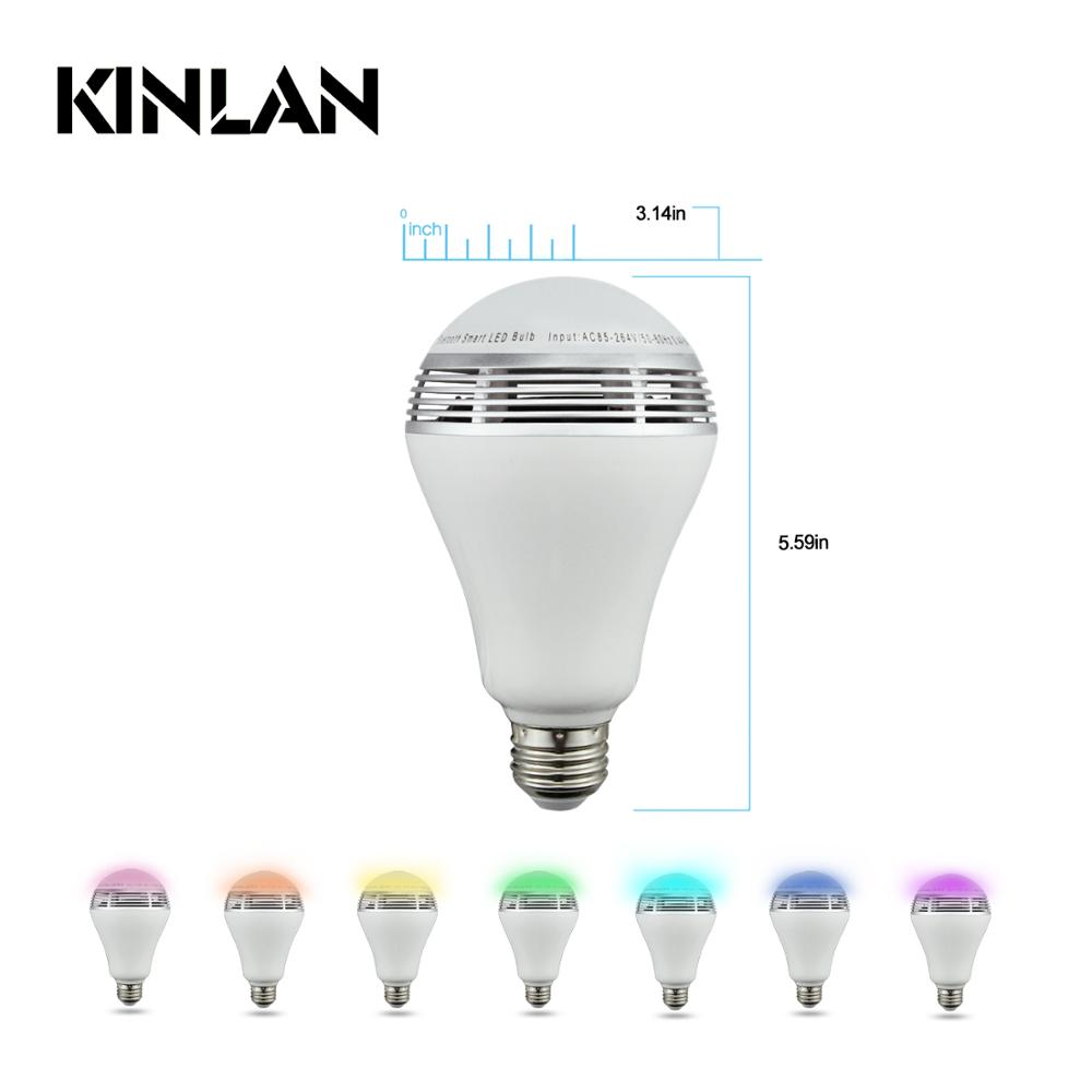 2017 New Colorful remote Wireless control led Bulb & Speaker led bulb speaker