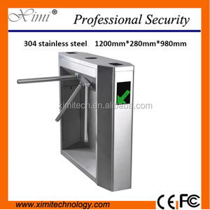 Good Quality Fingerprint Rfid Card Reader Security Turnstile Gate Access Control Full Height Flap Tripod Turnstile