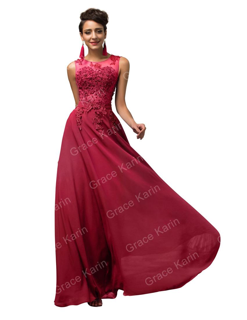 bb6ee4cc671 Get Quotations · New Arrival Grace Karin Long Light Pink Black Blue Red  Purple Prom Dresses Elegant Beading Dance