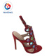 supply 2019 latest arrival red color hand made safety ladies shoes heel