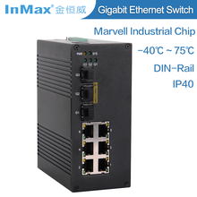 Oil and Gas Communication and Automation 3 Fiber+6 RJ45 Port Gigabit Managed Industrial Fiber Optic Ethernet Switch i609A