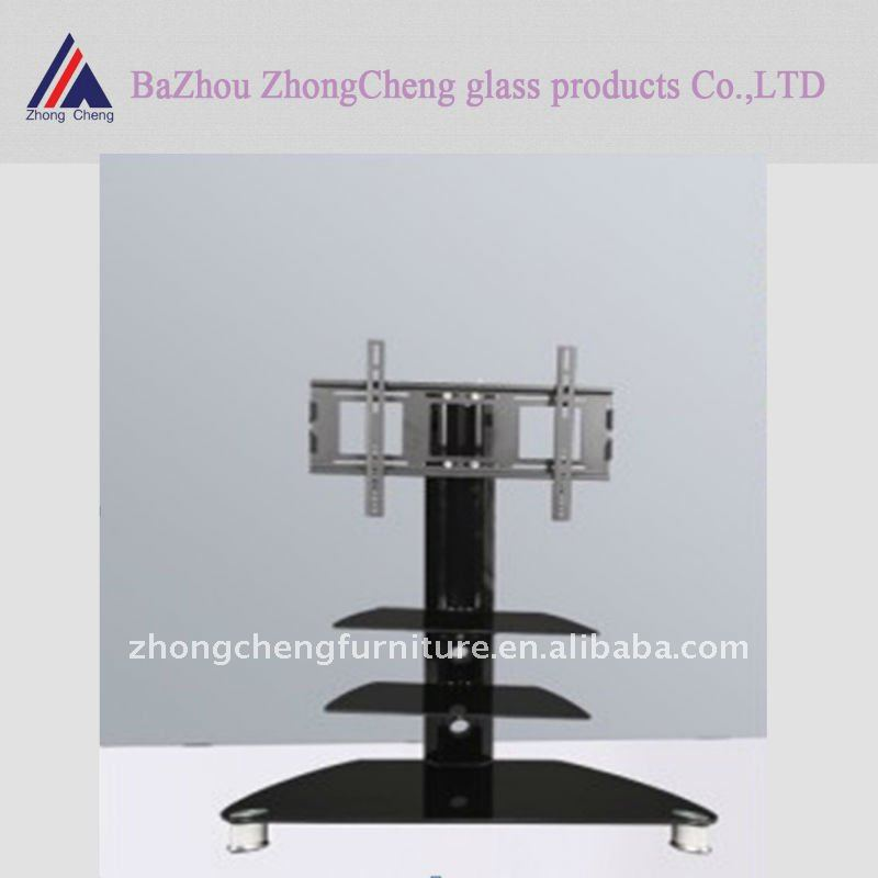 hot sale tempered glass lcd tv stand design