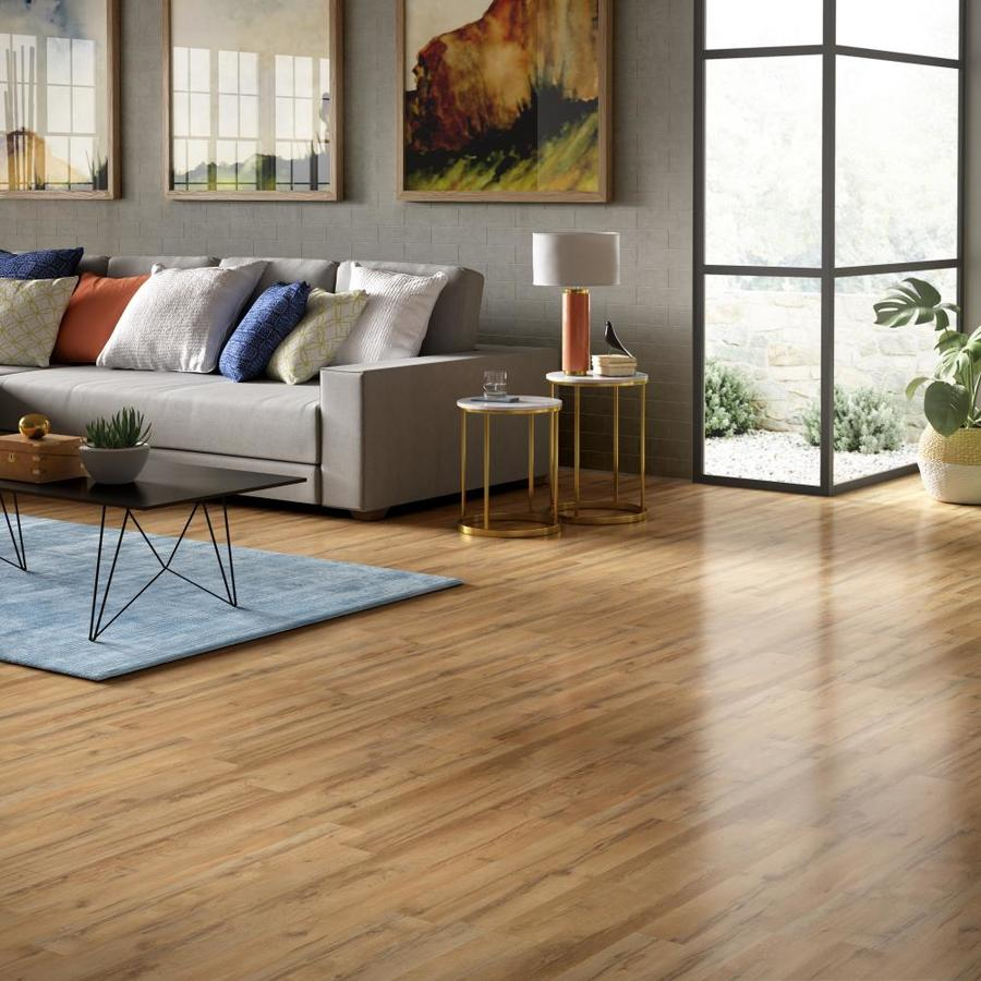 Style Selections 7 59 In W X 4 23 Ft L Tavern Oak Embossed Wood Plank