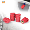 BYC Plastic Hand Grenade Tire Valve Caps Parts For Motorcycles
