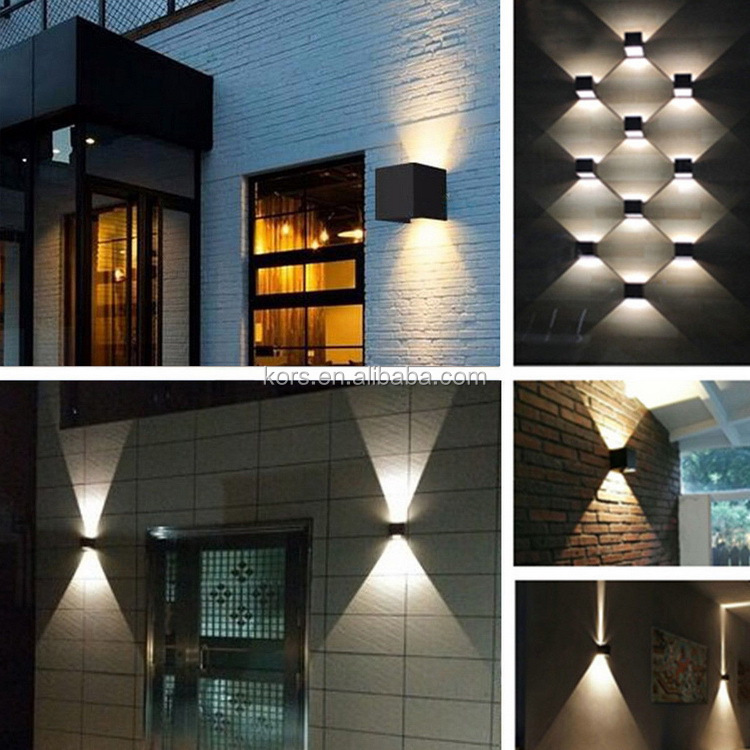 led wall lamp indoor modern loft mounted vanity lighting fixtures outdoor home decor cube up and down wall light