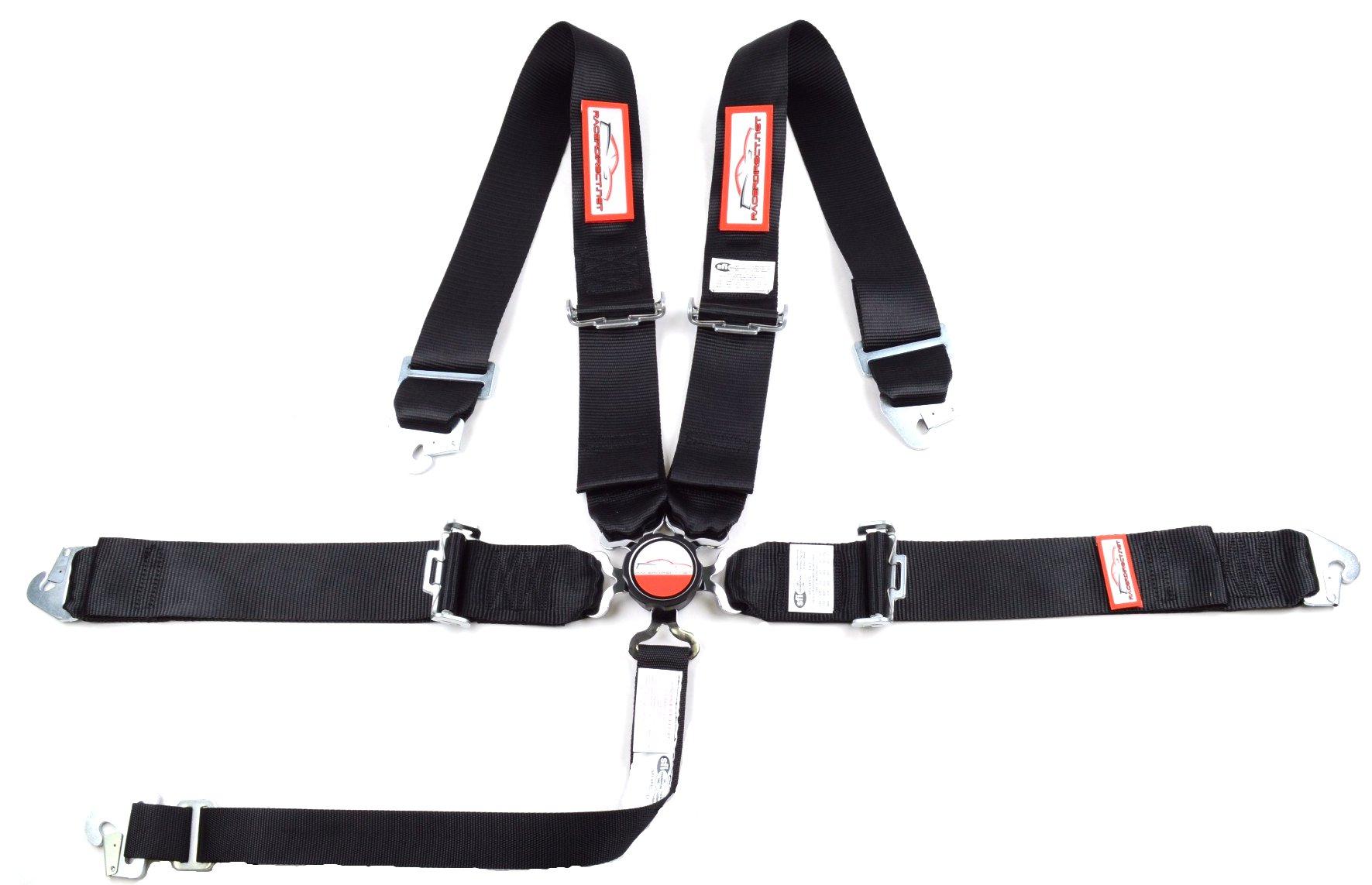 RACERDIRECT New Pair 3 Latch /& Link Lap Belt 2 Point Racing Belt SNAP Yellow