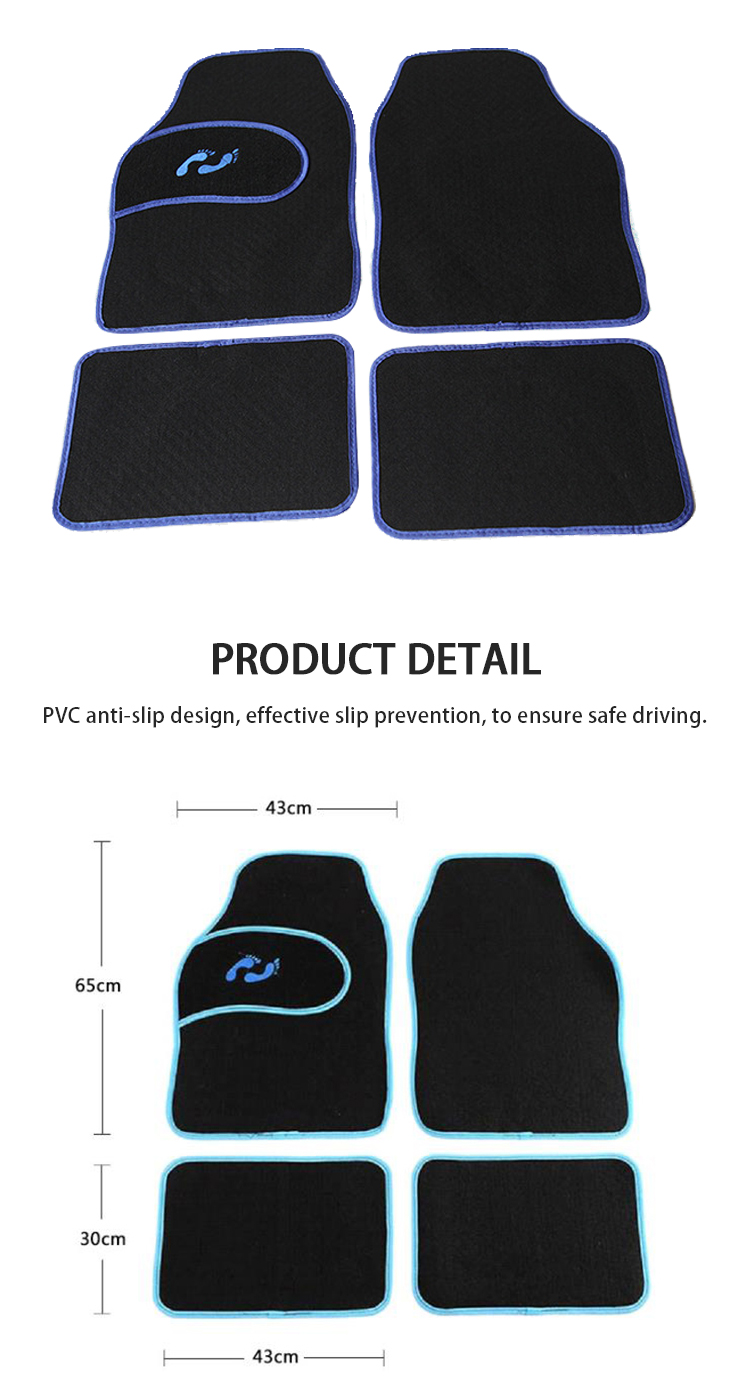 JD-B-001 Best selling Car mats with small ankles pattern universal mats four seasons