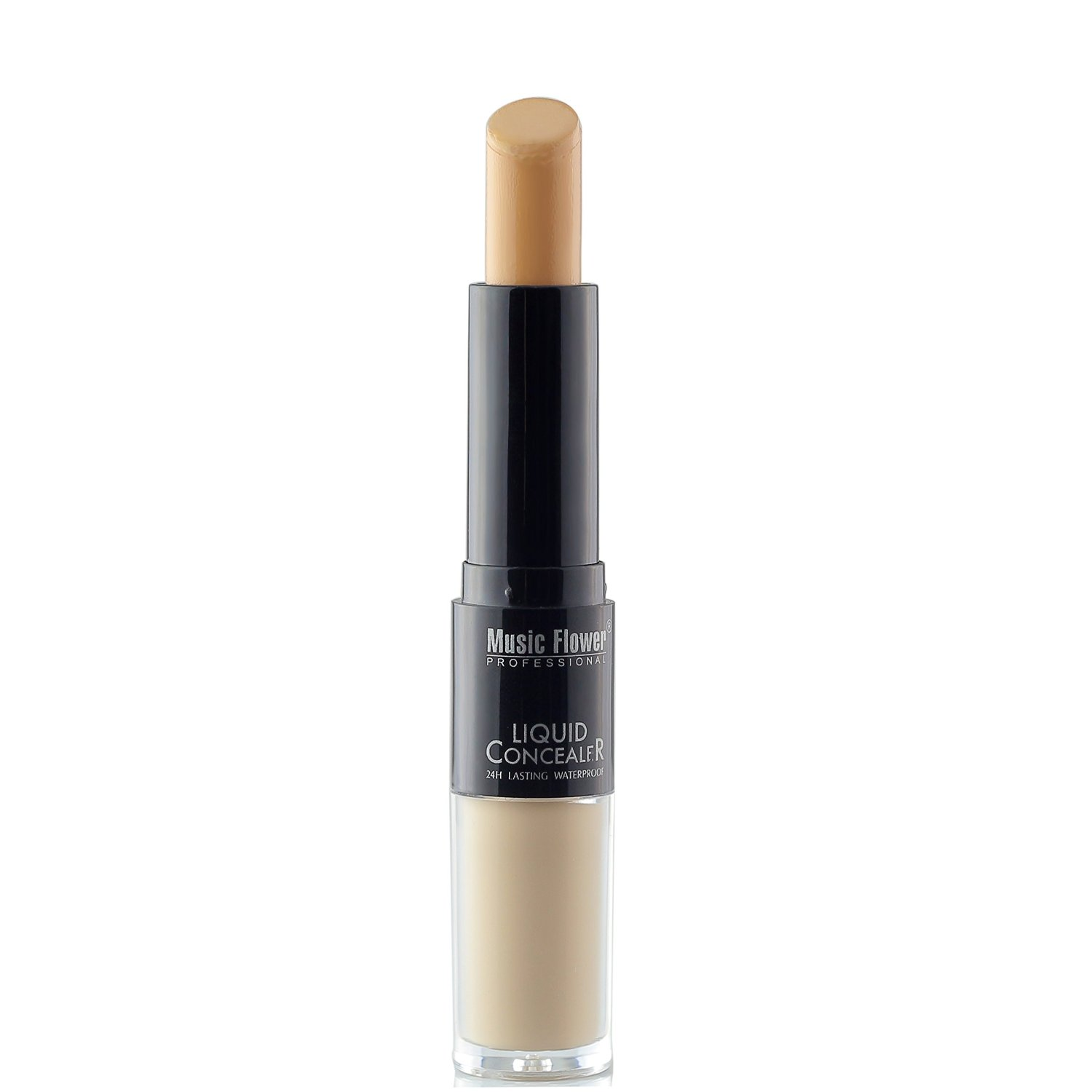 Ucanbe Double Feature Concealer Highlighter - Full Cover Creamy Concealer Stick and Liquid Foundation Concealer with Ball Applicator (skin)