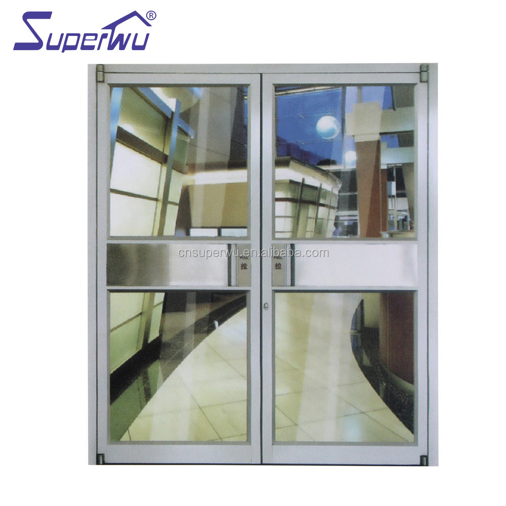 Miami-Dade County Approved Hurricane Certification aluminium profile swing door double gate