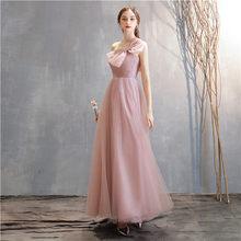 Женское платье подружки невесты, элегантное платье с рукавом до локтя, пыльно-розового цвета, для свадебной вечеринки(Китай)