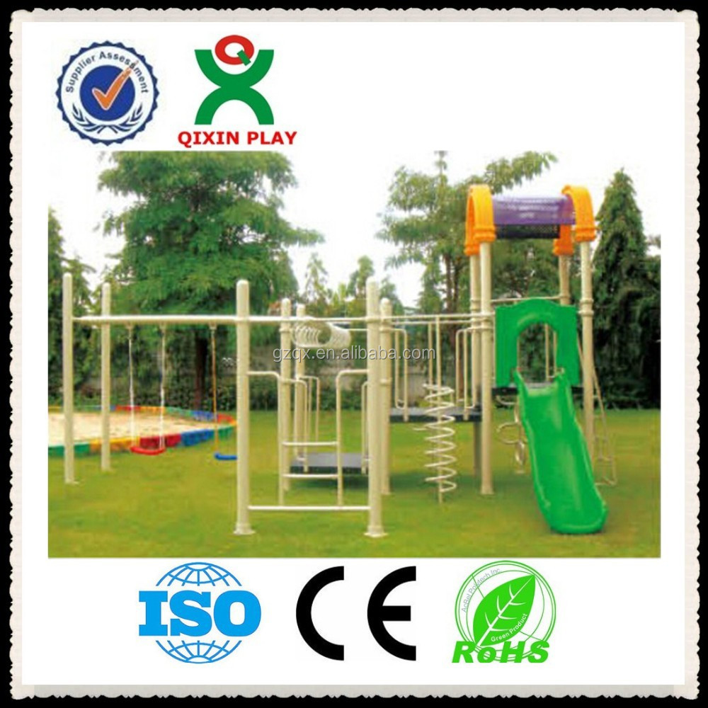 Guangzhou factory playground platform for playground slide QIXIN PLAY