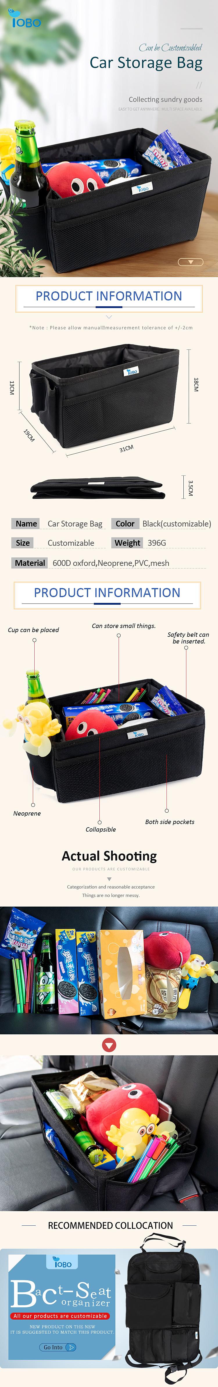 Faltbare Spielzeug Lebensmittel lagerung auto trunk organizer