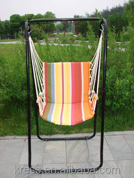 Outdoor And Indoor Steel Single Seater Rope Swing Chair With Stand