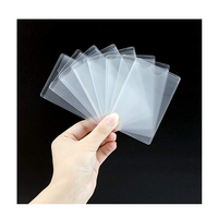 Wholesale Cheap Transparent Plastic PVC Vertical ID Credit Business Card Holder Protector Sleeve