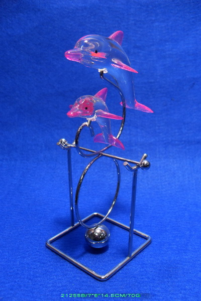 Acrylic Blue Dolphin Balance Swing Toys For Stress Relief