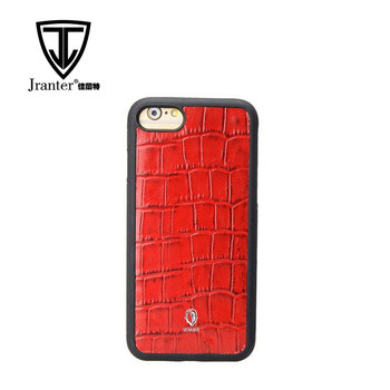 Factory customized genuine leather with crocodile pattern mobile phone cases