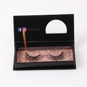 Custom logo packaging 3D Mink Lashes Wholesale False Eyelash With magnetic Box