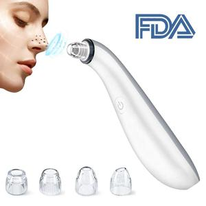 Rechargeable electric facial & nose blackhead remover with skin firming and pores cleaning function