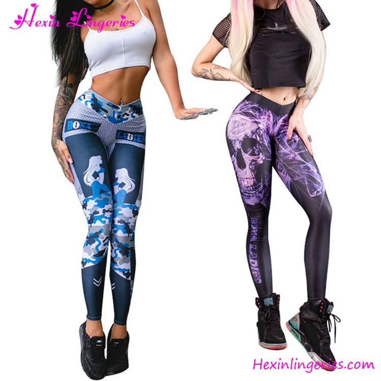 2017 Cheap Price Printed <strong>Sport</strong> Running Compression Tights For Women