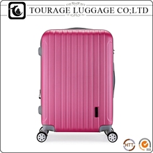 Large Zipper Man Hard Shell Pink Suitcase