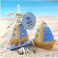 promotional gift sailing design scented candle