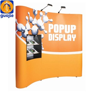 Portable tension fabric display/ fabric pop up stand/trade show backdrop