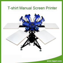 non-woven fabrics 6stations silk screen printing machine