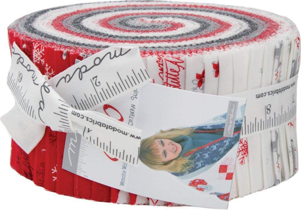 SNO Jelly Roll 40 2.5-inch Strips by Wenche Wolff Hatling for Moda Fabrics Jelly Roll 40 2.5-inch Strips, 39720JR
