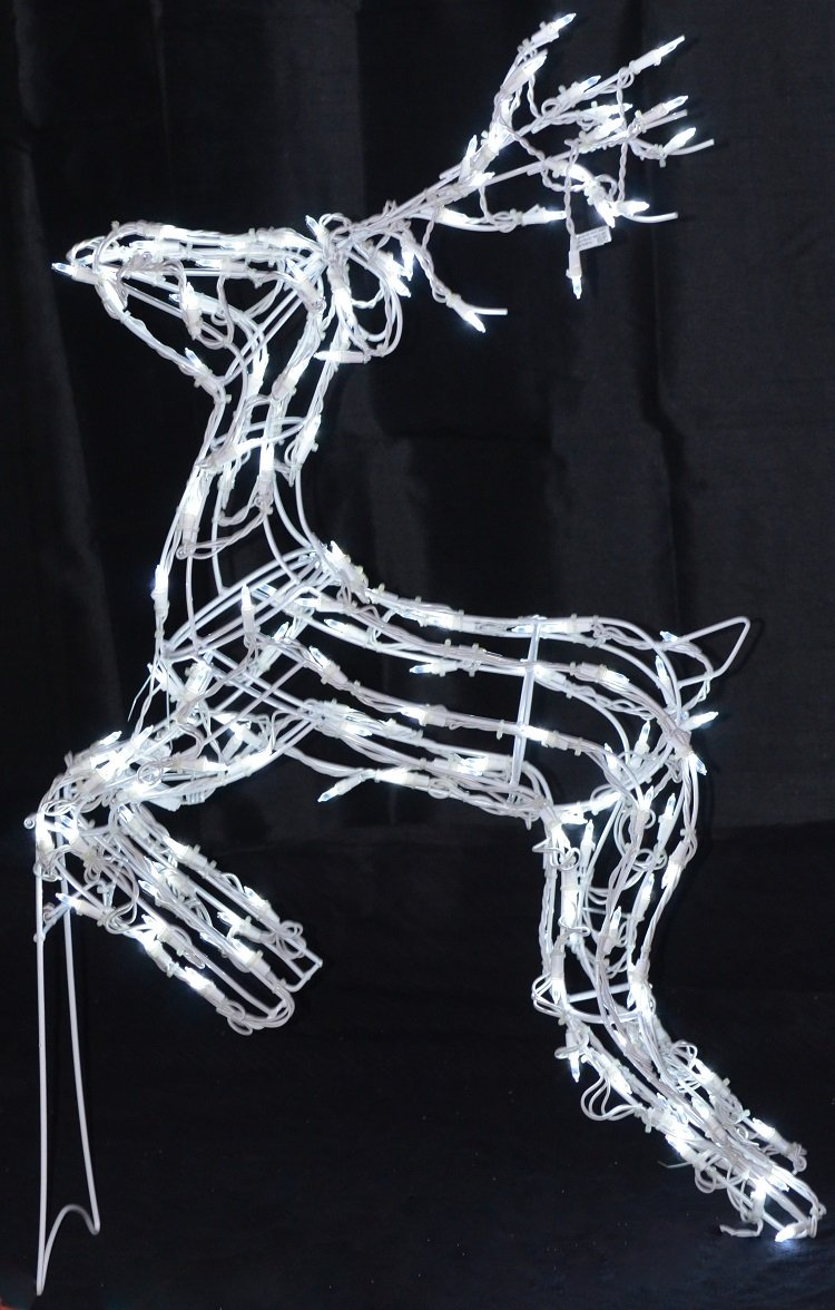 40 reindeer led deer lighted christmas decoration