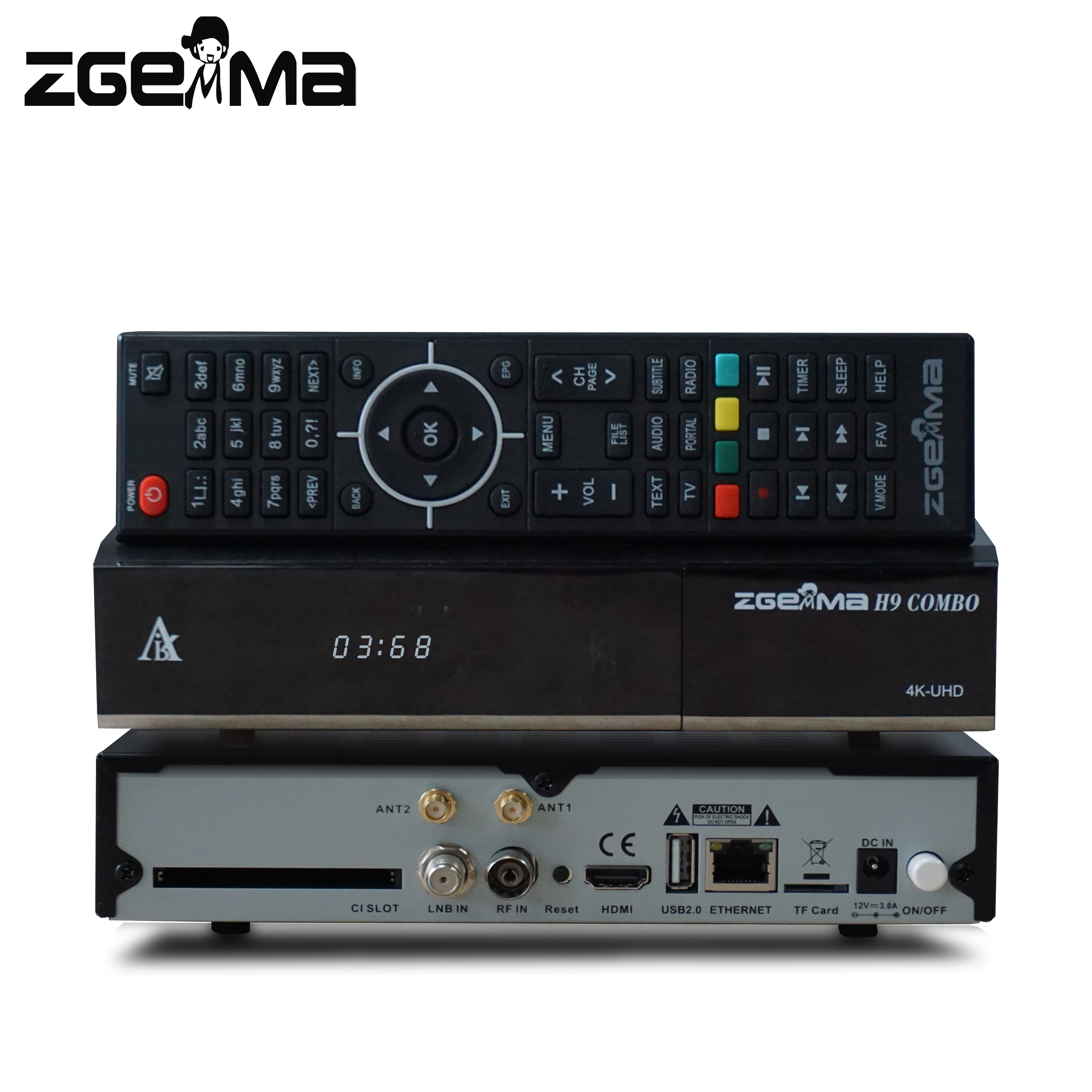 Nuovo combo 4 k tv decoder dvb s2x + dvb t2/c zgemma h9 combo ci plus e ca con 300 MHz wifi-build-in