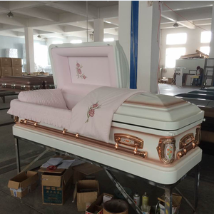 KM1824 18ga metal funeral casket and used coffins for sale