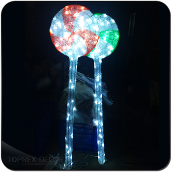 led acrylic outdoor candy cane used commercial christmas decorations - Used Outdoor Christmas Decorations For Sale