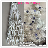 Outdoor basketball nets 21'' , white basketball net with 12 hooks