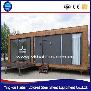 Economico a due piani in legno case 20ft 40ft container for Piccoli piani di casa di tronchi