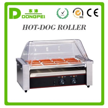 7 roller hot dog bun warmer sausage roller grill hot dog - Hot dog roller grill with bun warmer ...