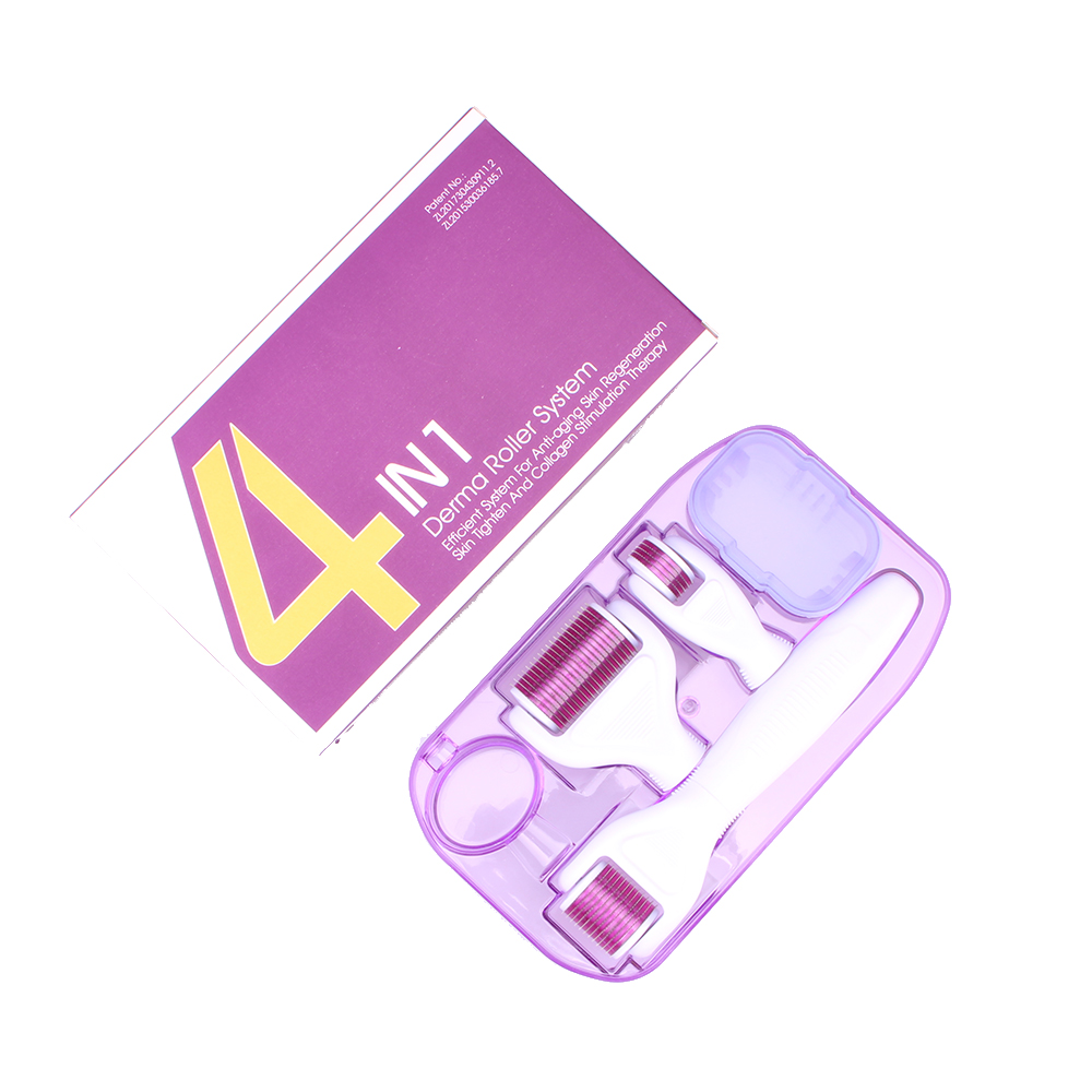 TA private label skin care acne removal tools 4 in 1 Derma Micro Needle roller GHY-841, Multi colors available