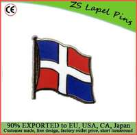 Custom high quality Dominican Republic Flag Lapel Pin