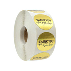 Hot Sale Packaging Adhesive Paper Thank You Label Sticker Printing