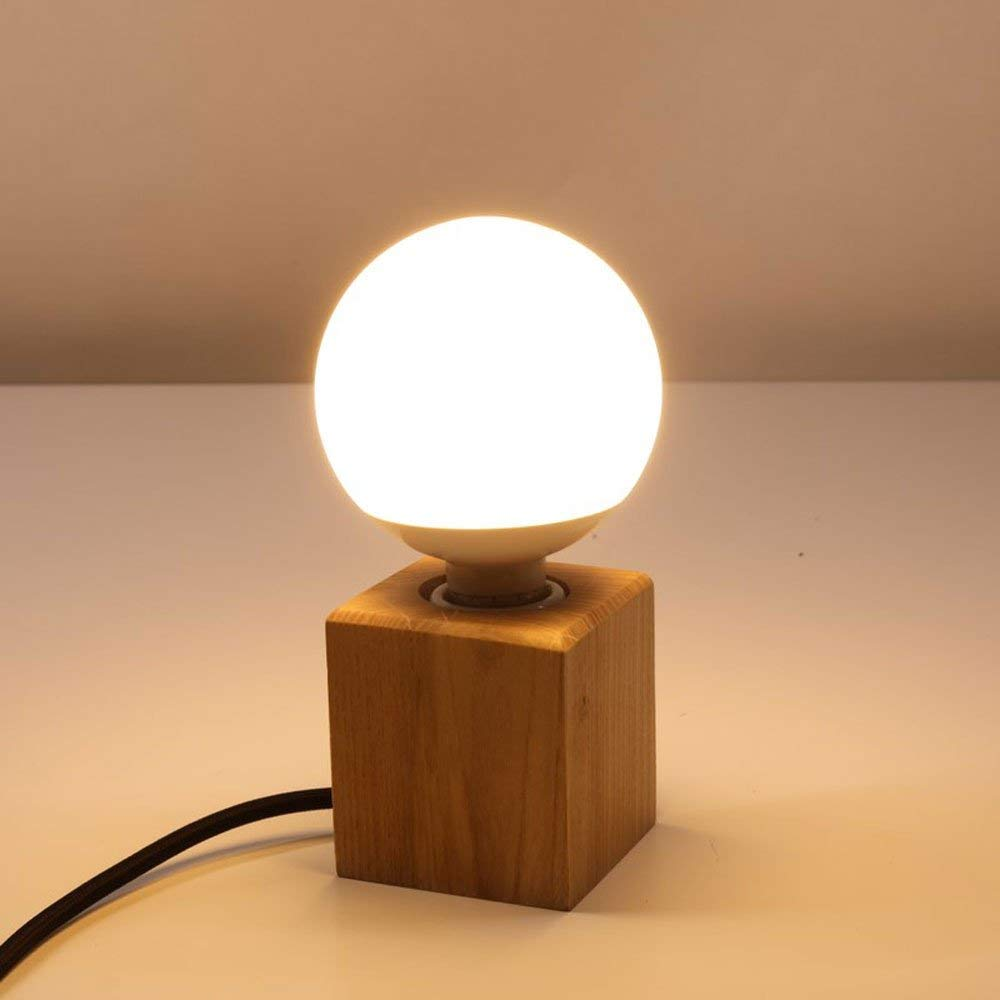 Korean Small Bedroom Bedside Table Features Of Modern Creative Fashion American Led Nordic Warm Bedside Lamp Products Hot Sale Desk Lamps