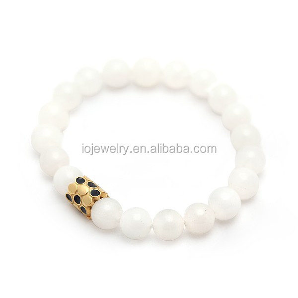 Beads Company Logo: Customized Jewelry Bracelet With Engraving Company Logo