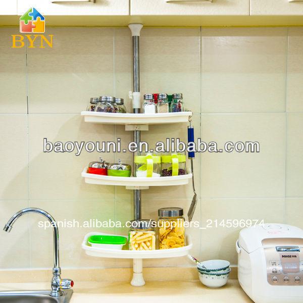 baoyouni niveles de esquina estante de la especia de especias de cocina estantes estante de