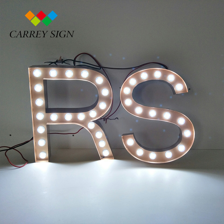 Marquee bulb love led light up letters
