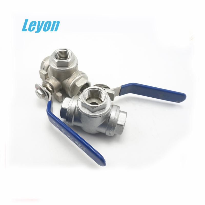 Top popular Material stainless steel 304 3 way hydraulic steel valve 3-way male thread ball valve